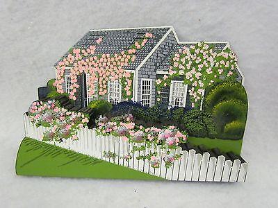 1998 Shelia 3-D Wooden Shelf Sitter:  Swain Cottage, Nantucket, Massachusetts