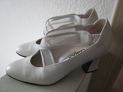 Gabor hübsche Brautschuhe Hochzeitsschuhe Pumps Elfenbein Weiß Gr. 2,5 / 34
