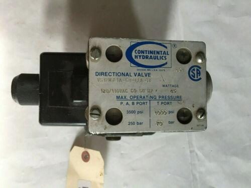 CONTINENTAL HYDRAULICS VS12M-1A-GB-60L-H HYDRAULIC DIRECTIONAL SOLENOID VALVE,SL