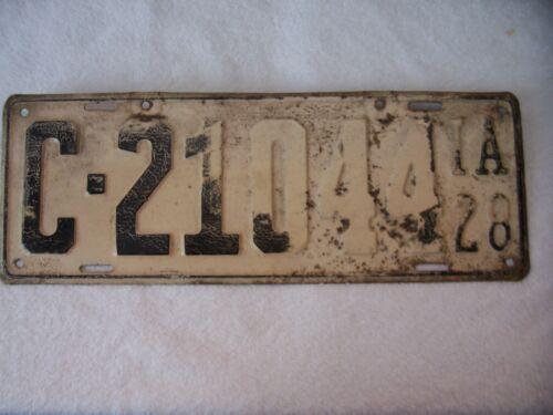 1928 IOWA LICENSE PLATE # C-21044
