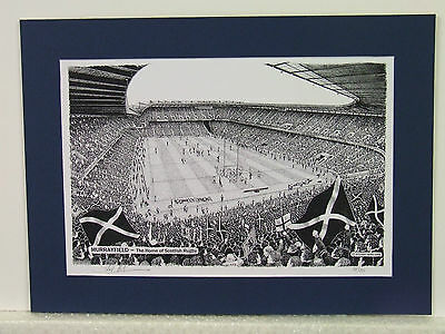 Murrayfield - Scotland Rugby. Limited Edition Stadium Art Print by Stuart Herd