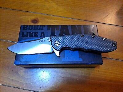 Zero Tolerance ZT 0562 CF Hinderer Slicer Folding Knife Carbon Fiber USA