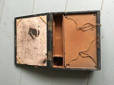 "Antique Vintage Travel Writing Slope Box Restoration Project 9.5""x8"""
