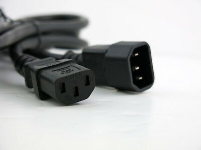 6ft C14 to C13 14AWG AC Power Cord - Heavy Duty - use as extension or for PDU for sale  Shipping to India