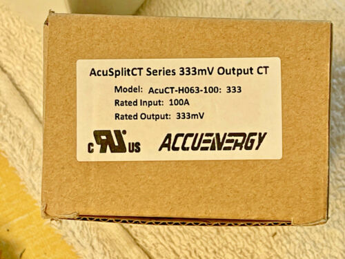 Accuenergy AcuSplitCT Series 333mv Output Current *AcuCT-H040-100:333*FREE SHIP