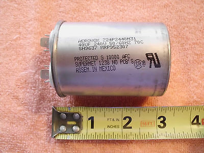 Aerovox 40uf 240v 5060hz Capacitor Z24p2440m31
