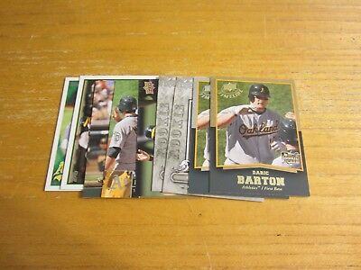 Daric Barton Lot Of 9 Trading Cards W 1 Insert Mlb Baseball Oakland Athletics