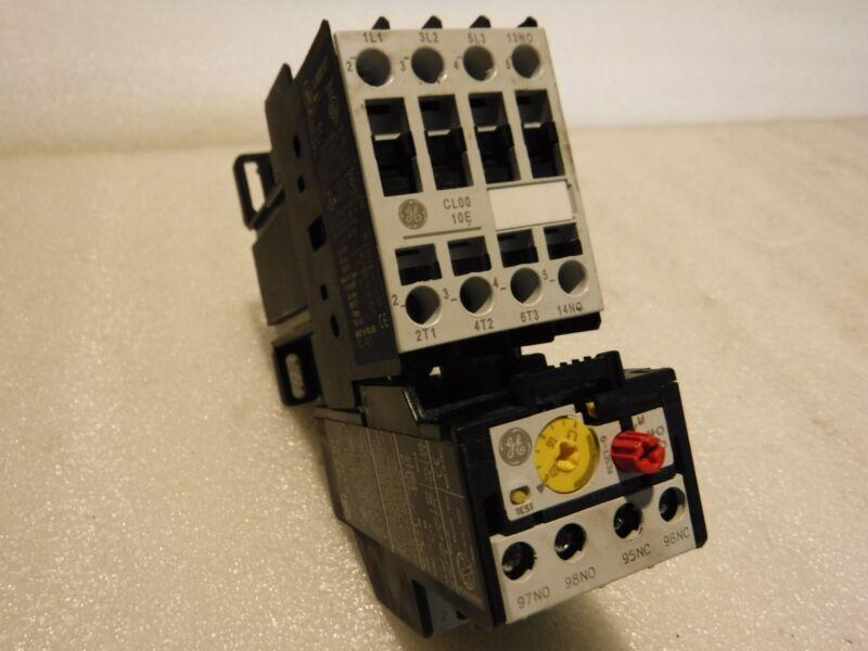 GE GENERAL ELECTRIC MOTOR STARTER CL00D310T 24V COIL 600V W/RT1H 1.3-1.9 AMP
