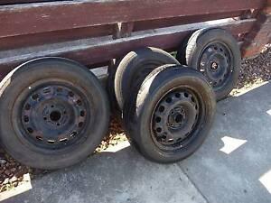Mitsubishi Lancer wheels and tyres x 4 Prospect Launceston Area Preview