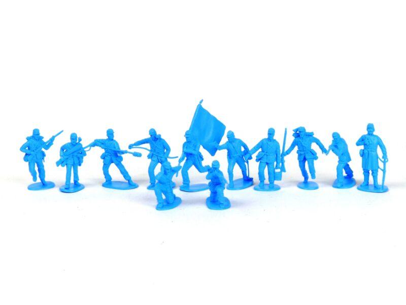 American Civil War Union Artillery 54mm Plastic Toy Soldiers Figures Light Blue