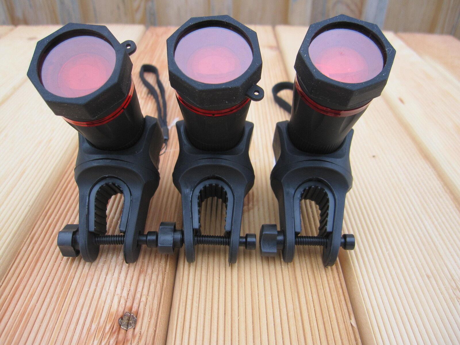 3 x Rod Pod Rotlicht Beleuchtung Karpfenangeln Feeder Zander Karpfen Weißfisch