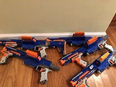 Blue Nerf N-Strike Raider CS-35 Blaster / Gun Toy Lot of 5