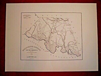 1773 SC MAP Downen Devenport Devoux Drayton Dupont Elliott Family SURNAMES HUGE