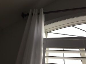 Like new curtains (2 panels)  - white