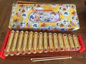 Vintage 1950's Metallic Xylophone Children's toy with original box Kadina Copper Coast Preview