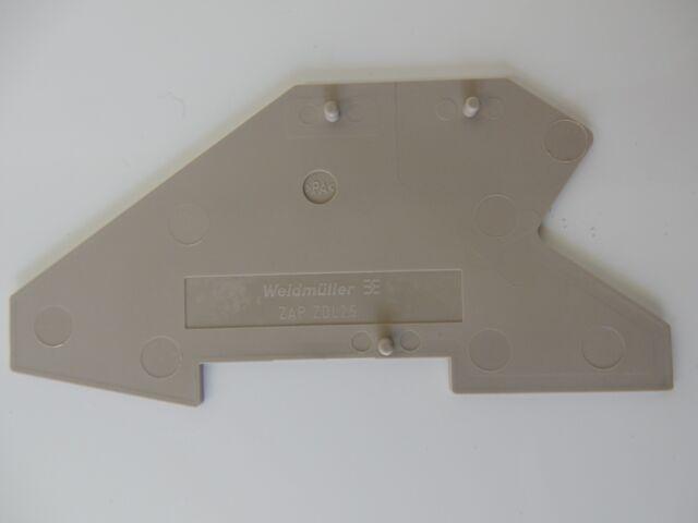 ZAP/ZDU 2,5 Weidmüller Endplatte (10 Stück) - #1002
