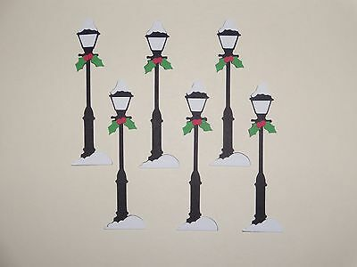 6 Christmas lamp post scrapbooking die cuts greeting card die cut