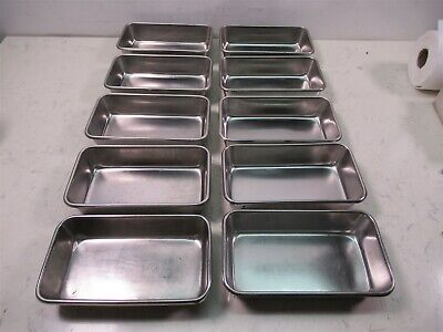 Lot Of 10 Polar Ware Vollrath Stainless Steel Instrument Trays 8 12 X 5