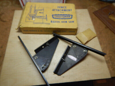 Vintage Craftsman Radial Arm Saw Fence Assembly In Box Woodworking Tool