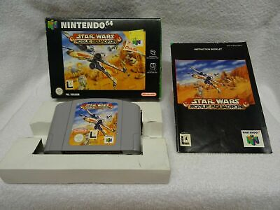 Star Wars Rogue Squadron - N64 Game - Boxed + Instructions - UK Pal