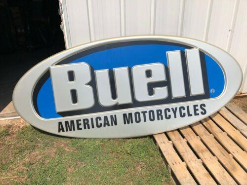"""Large Buell Dealership sign  7 1/2 ft x 40"""" motorcycle dealer building OEM"""