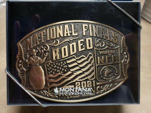 "NIB!! 2021 Brass ""Adult"" Hesston National Finals Rodeo"