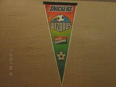 Mls Kansas City Wizards Vintage Circa 1997 Price Chopper Logo Soccer Pennant