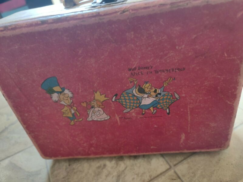 1940-1950s Alice In Wonderland Toy Suitcase built by deevel / Disney productions