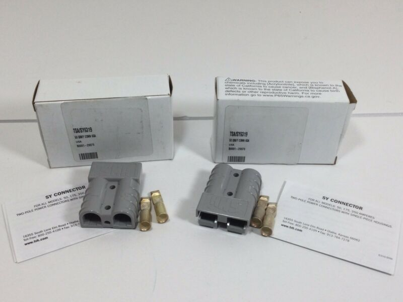 Lot of 2 NEW Total Source SY6319 50 Series Gray Connector 6 GA Free Shipping!