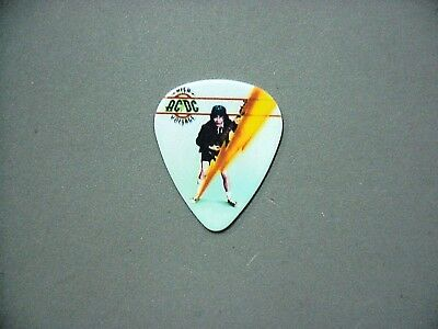 AC/DC guitar pick Lightning bolt and full color picture of Angus!