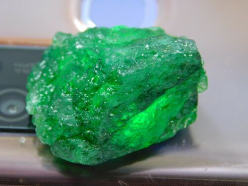 42.00Ct + Translucent Natural Colombian Emerald Green Loose Mineral Rough 1pcs Y