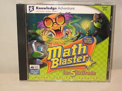 5th Grade Ages 9-11 Knowledge Adventure Math Blaster CD-Rom Rocket - Math Games 5th Grade