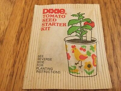 Vintage Unopened Sealed Burpee / Dixie Tomato Seed Packet Pack, 1970s