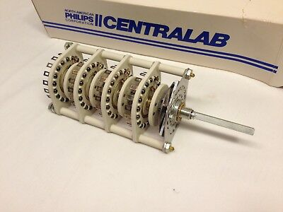 Nos Centralab 2-17 Pos 4 Pol Non Shorting Rotary Switch Jv-9013 Heavy Duty