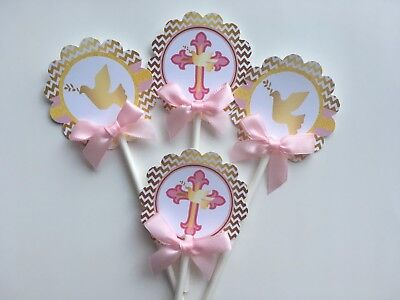 dove cupcake toppers/ Cross cupcake toppers/ first communion cupcake toppers](Cross Cupcake Toppers)