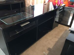 Tv Stand Piano Black