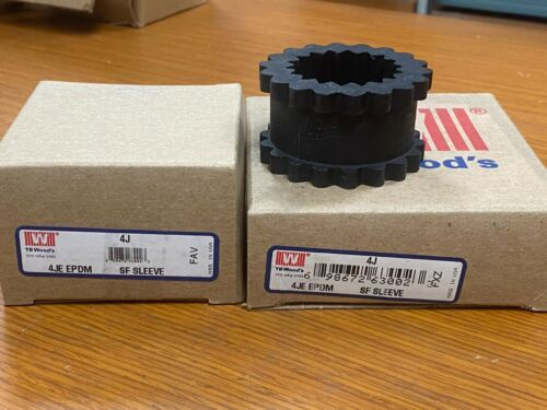 👀 2) NEW TB WOODS 4J COUPLING SF SLEEVE INSERT 4JE EPDM LOT OF 2