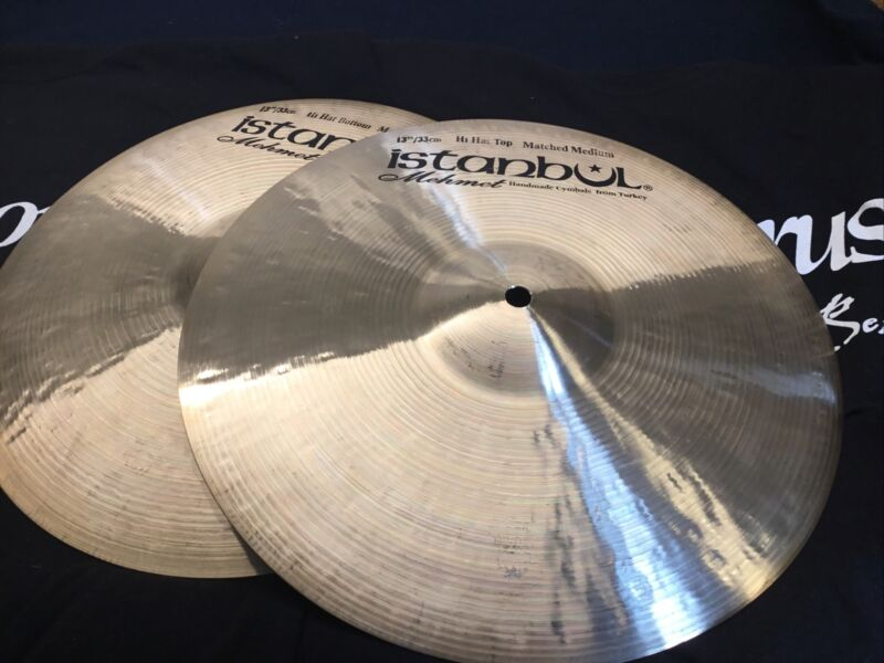 "NEW 13"" Istanbul Mehmet Traditional Matched Medium Hi  Hats (Pair, 846/853 gs)"