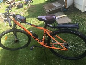 21 speed mountain bike with studded tires