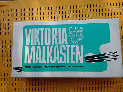 """Vintage Malkasten Model """"Viktoria Künstlerfarben"""" wie auf Fotos."""