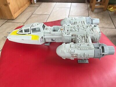 nice vintage star wars Y WING FIGHTER WORKING SOUNDS ROTJ 1983 Near complete