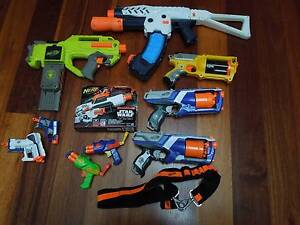 NERF GUNS - SET OF 8 + EXTRAS Springwood Blue Mountains Preview