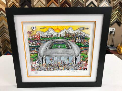 """Charles Fazzino """" Dallas Cowboys """" 3-D Artwork Signed & Numbered Framed"""