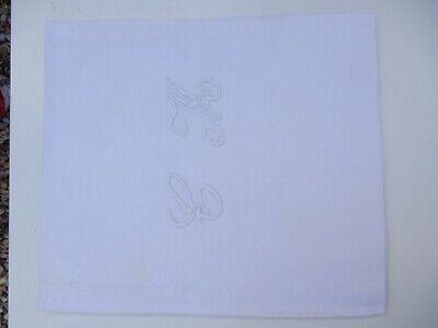 1900 ERA BELLE EPOCH  MONOGRAMMED TOWEL INITIAL CM  VINTAGE LINEN HAND TOWEL d