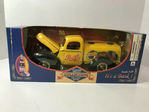 Golden Wheel, Pepsi-Cola, 1940 Ford Tanker Truck Replica Metal Bank
