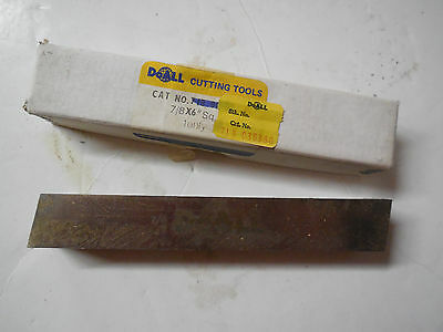 4 Pcs Doall Cutting Tools 78 Cobalt Ground Square 6 Lathe Toolbits Tool Bits