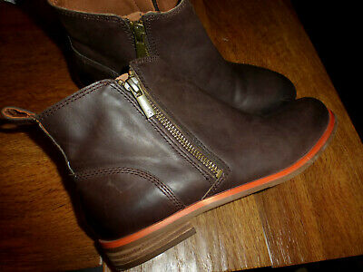 WOMENS LUCKY BRAND DALIA BROWN LEATHER DOUBLE ZIP BOOTIES ANKLE BOOTS SIZE (Dalia Brown)