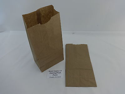 Qty 100 #4 Paper Brown Kraft Natural Sack Grocery Merchandise Retail Bags