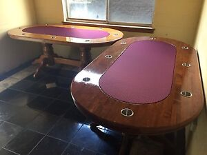 HARDWOOD POKER TABLE - BRAND NEW SPEED CLOTH Mount Waverley Monash Area Preview