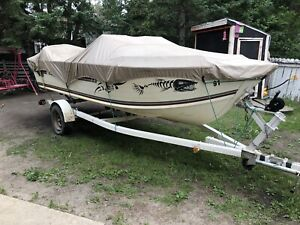 """16"""" Aluminum Boat with 60hp Motor For Sale"""